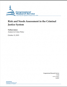 Risk and Needs Assessment in the Criminal Justice System