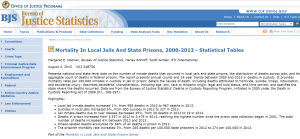 Mortality In Local Jails And State Prisons, 2000–2013 - Statistical Tables cover