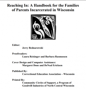 Reaching In: A Handbook for the Families of Parents Incarcerated in Wisconsin cover