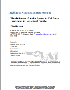 Cell Phone Localization in Correctional Facilities|Final Report cover