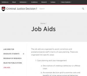 Decision Making Laboratory Job Aids cover
