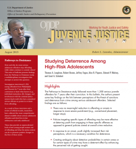 Studying Deterrence Among High-Risk Adolescents cover