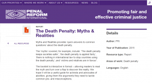 The Death Penalty: Myths & Realities: Quick Answers to Common Questions cover