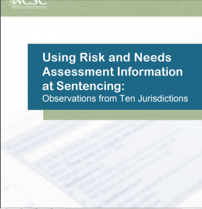 Using Risk and Needs Assessment Information at Sentencing: Observations from Ten Jurisdictions cover