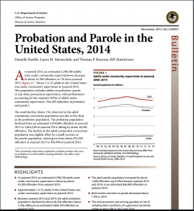 Probation And Parole In The United States, 2014 cover