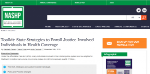 Toolkit: State Strategies to Enroll Justice-Involved Individuals in Health Coverage cover