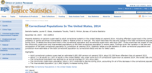 Correctional Populations In The United States, 2014 cover