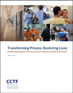 Transforming Prisons, Restoring Lives: Final Recommendations of the Charles Colson Task Force on Federal Corrections Cover