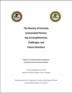 The Reentry of Formerly Incarcerated Persons Cover