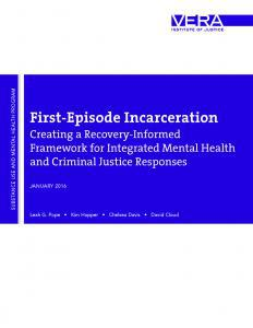 First-Episode Incarceration Cover