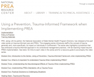 Using a Prevention, Trauma-Informed Framework when Implementing PREA Cover