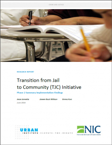 Transition from Jail to Community Cover