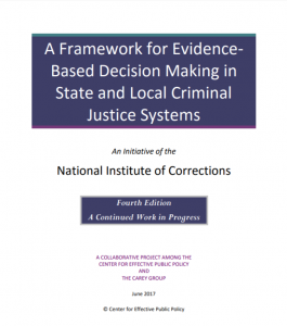 A Framework for Evidence-Based Decision Making in State and Local Criminal Justice Systems cover