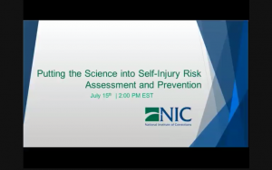 Putting the Science into Self-Injury Risk Assessment and Prevention
