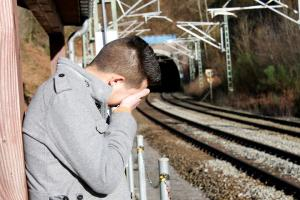 a man crying over the loss of his friend